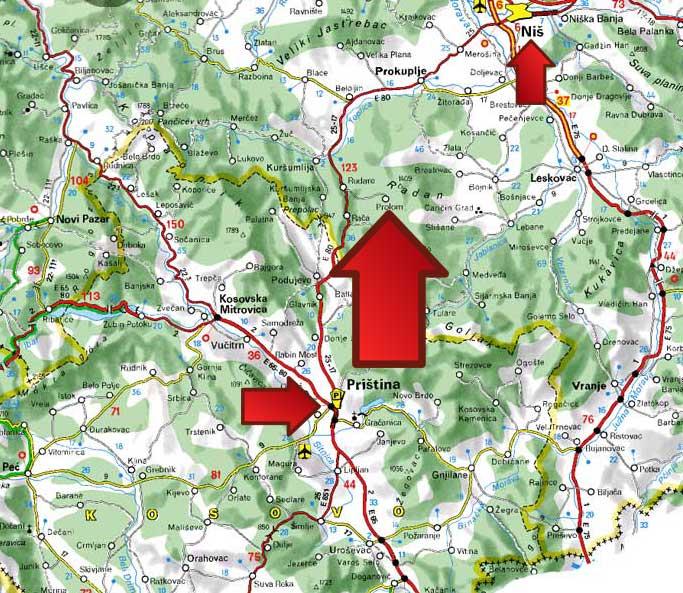 Mapa Prolom Banja
